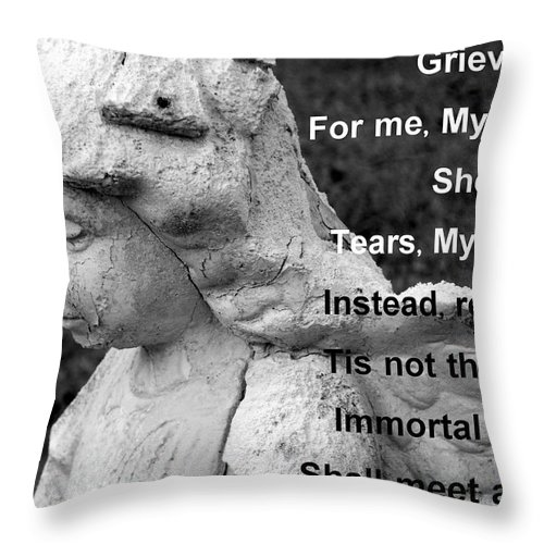 Angel Throw Pillow featuring the photograph For Lelia by Betty Northcutt