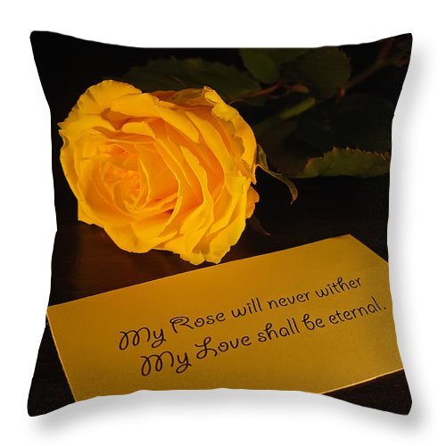 Valentine Throw Pillow featuring the photograph For My Love by Daniel Csoka