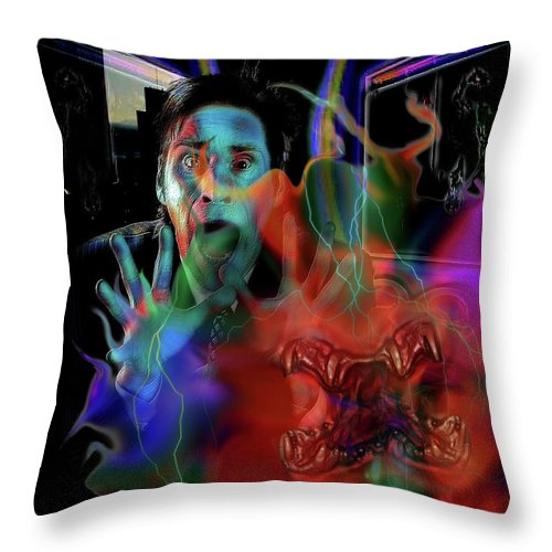 Plasma Throw Pillow featuring the photograph for Rickman's Plasma by Mimulux patricia No