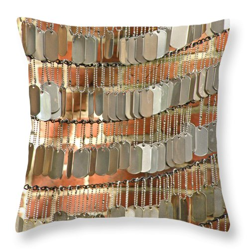 Memorials Throw Pillow featuring the photograph For The Fallen by Donna Shahan