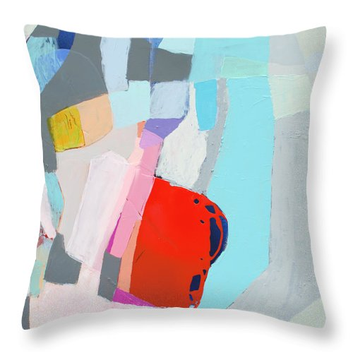 Abstract Throw Pillow featuring the painting For What You Are by Claire Desjardins