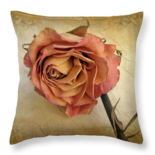 Flower Throw Pillow featuring the photograph For You by Jessica Jenney