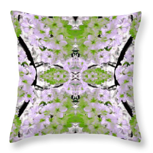 Collage Throw Pillow featuring the painting Foral Mural by Bruce Nutting