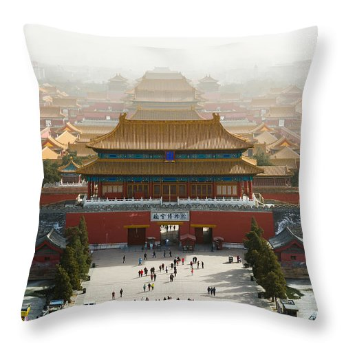 Beijing Throw Pillow featuring the photograph Forbidden City by Andre Distel