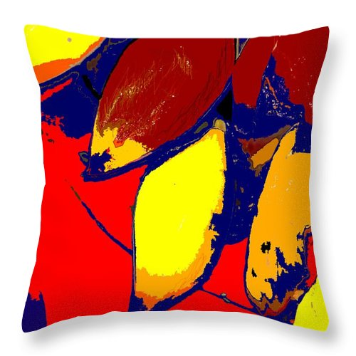 Red Throw Pillow featuring the photograph Forbidden Fruit by Ian MacDonald