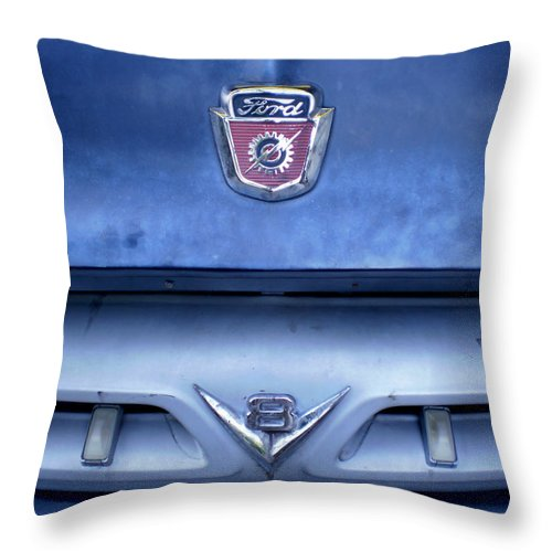 Cars Throw Pillow featuring the photograph Ford V8 Truck by Jan Amiss Photography