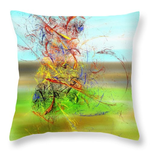 Digital Painting Throw Pillow featuring the digital art Fore by David Lane