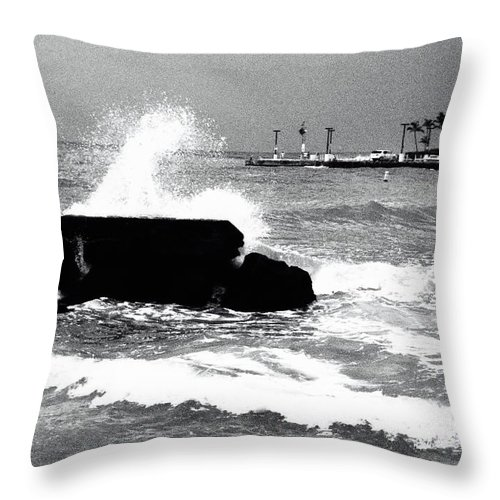 Tide Throw Pillow featuring the photograph Foreboding Tide by Robert Kabeiseman