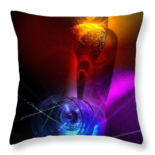 Fantasy Throw Pillow featuring the photograph Foreplay by Miki De Goodaboom