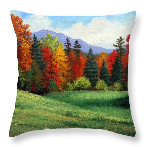 Autumn Throw Pillow featuring the painting Forest Edge by Frank Wilson