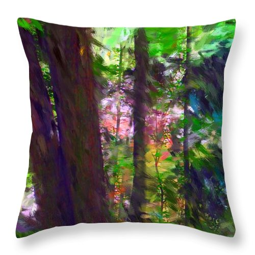 Digital Photography Throw Pillow featuring the digital art Forest For The Trees by David Lane