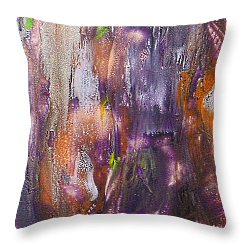 Forest Ghost Throw Pillow featuring the painting Forest Ghost by Dragica Micki Fortuna