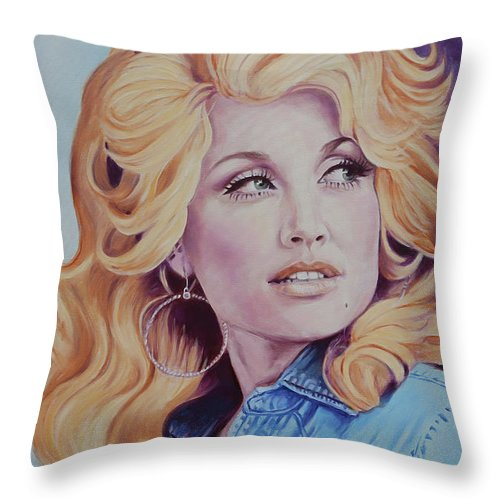Forever Young Dolly Parton Throw Pillow For Sale By Maria Modopoulos