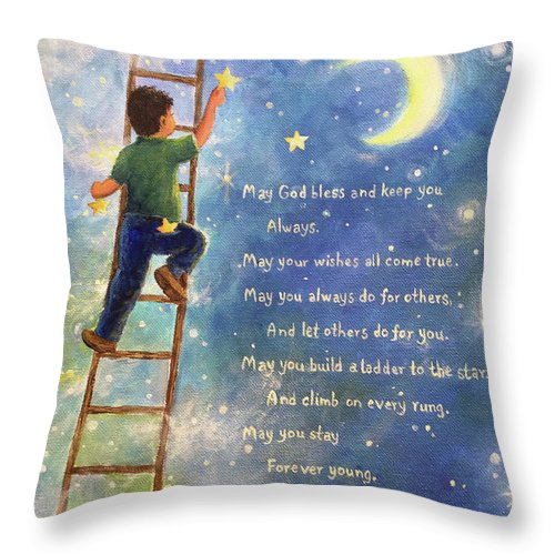 Forever Young Ladder To The Stars Throw Pillow For Sale By Vickie Wade
