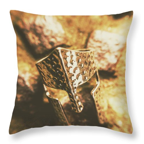 Crusades Throw Pillow featuring the photograph Forged In The Crusades by Jorgo Photography - Wall Art Gallery