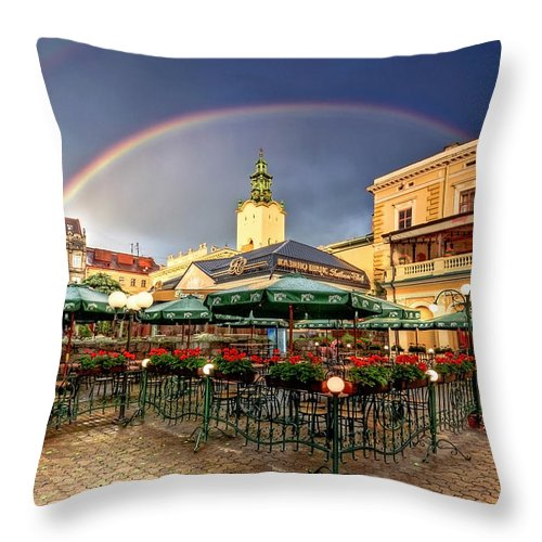 Ukraine Throw Pillow featuring the photograph Forget Me Not by Evelina Kremsdorf