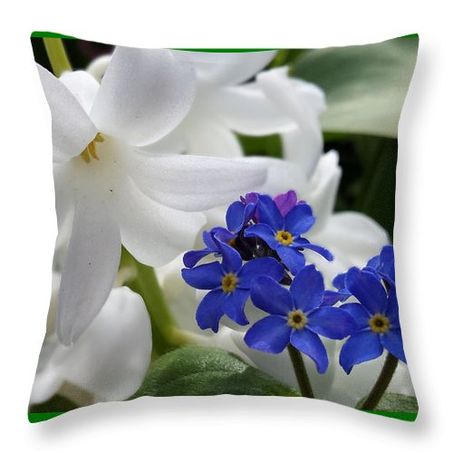 Lily Throw Pillow featuring the photograph Forget Not by Jess' Shots