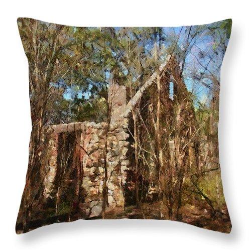 Abandon Throw Pillow featuring the painting Forgotten by Jeffrey Kolker