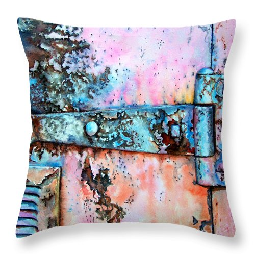 Watercolor Painting Throw Pillow featuring the painting Forgotten by Leyla Munteanu