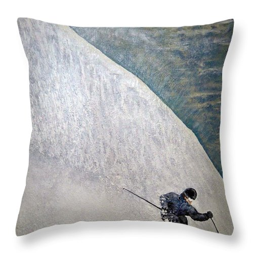 Landscape Throw Pillow featuring the painting Form by Michael Cuozzo