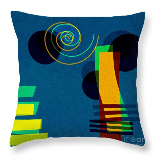 Abstract Throw Pillow featuring the digital art Formes - 03b by Variance Collections