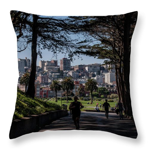 San Francisco Throw Pillow featuring the photograph Fort Mason Frame by Andrew Hollen