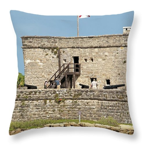 Fort Throw Pillow featuring the photograph Fort Matanzas by Kenneth Albin