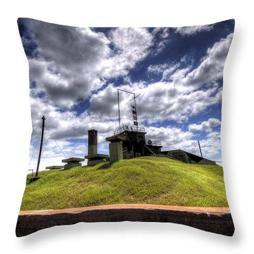 Fort Throw Pillow featuring the photograph Fort Moultrie Bunker by Dustin K Ryan