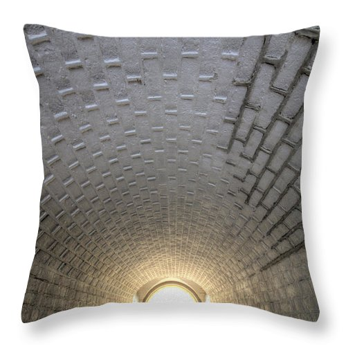 Fort Throw Pillow featuring the photograph Fort Moultrie Bunker Tunnel by Dustin K Ryan