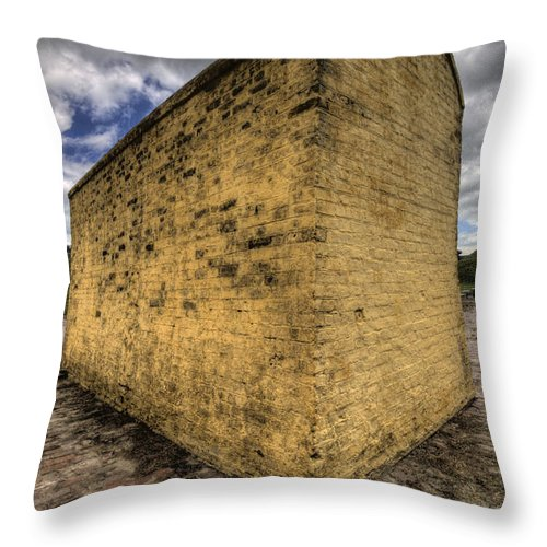 Fort Throw Pillow featuring the photograph Fort Moultrie Defense Wall by Dustin K Ryan