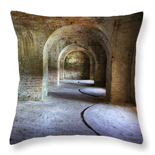 Fort Throw Pillow featuring the photograph Fort Pickens 3 by Laurie Perry