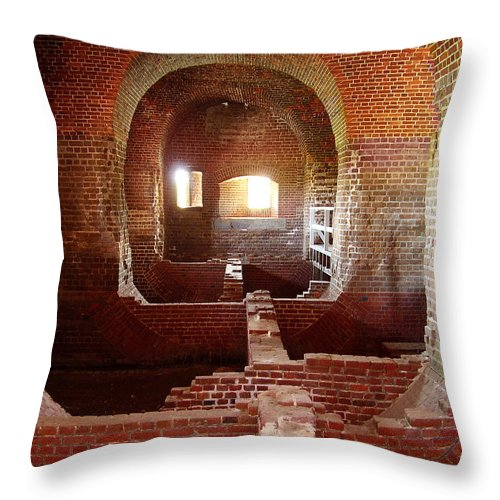 Fort Pulaski Throw Pillow featuring the photograph Fort Pulaski I by Flavia Westerwelle