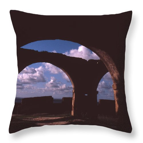 Bahia Throw Pillow featuring the photograph Fortaleza De Morro De Sao Paulo by Patrick Klauss