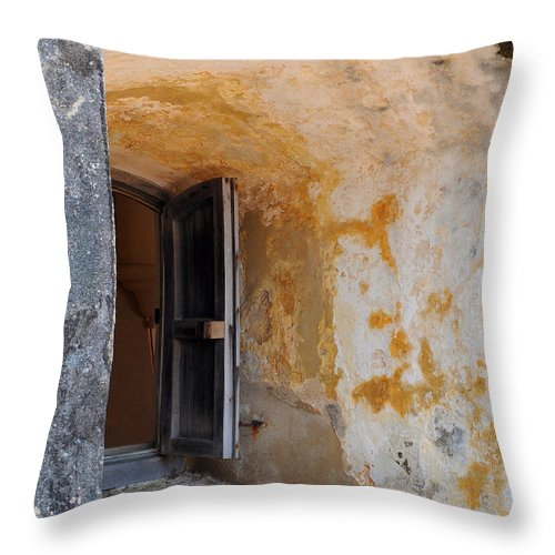 Fortress Throw Pillow featuring the photograph Fortress Window by Stephen Anderson