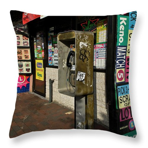 Baltimore Throw Pillow featuring the photograph Fortune Awaits by Murray Bloom