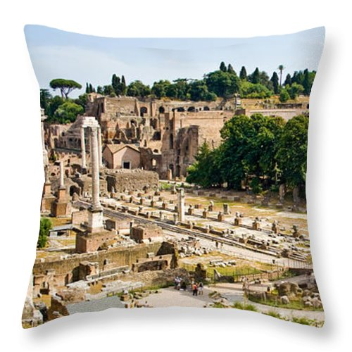 Archeology Throw Pillow featuring the photograph Forum by Nelson Mineiro