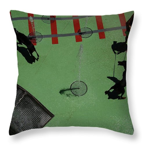 Fountain Throw Pillow featuring the photograph Fountain by Flavia Westerwelle