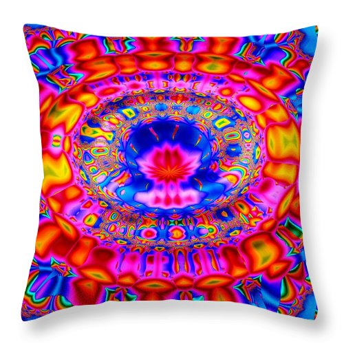 Abstract Throw Pillow featuring the digital art Fountain Of Love by Robert Orinski