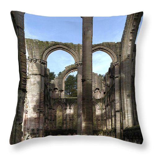 Castle Throw Pillow featuring the photograph Fountains Abbey 4 by Svetlana Sewell