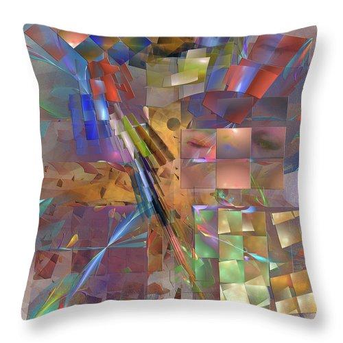 Four Eyes Throw Pillow featuring the digital art Four Eyes by John Robert Beck