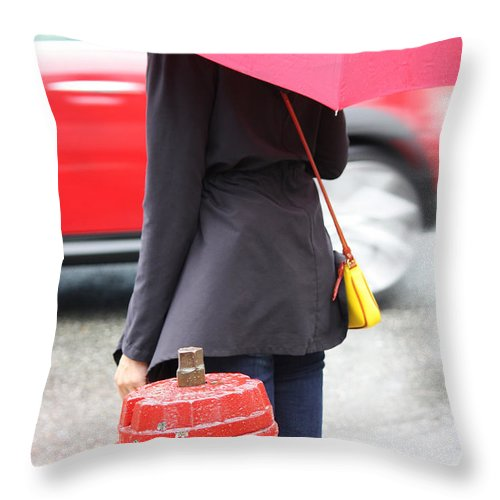 Street Photography Throw Pillow featuring the photograph Four Thirty by The Artist Project