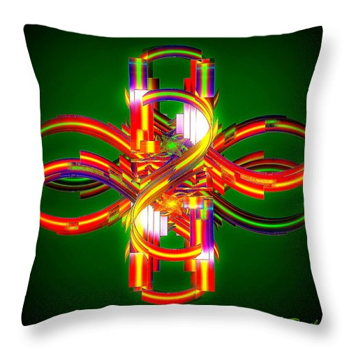 Digital Throw Pillow featuring the digital art Fourth Dimension by Leslie Revels