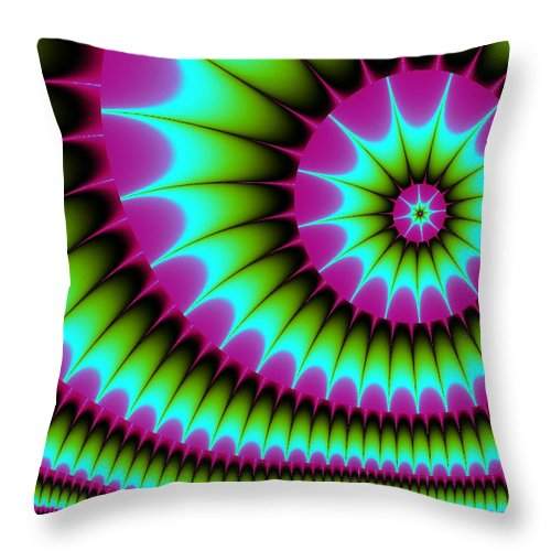 Fractal Digital Art Throw Pillow featuring the digital art Fractal 167 by Charmaine Zoe