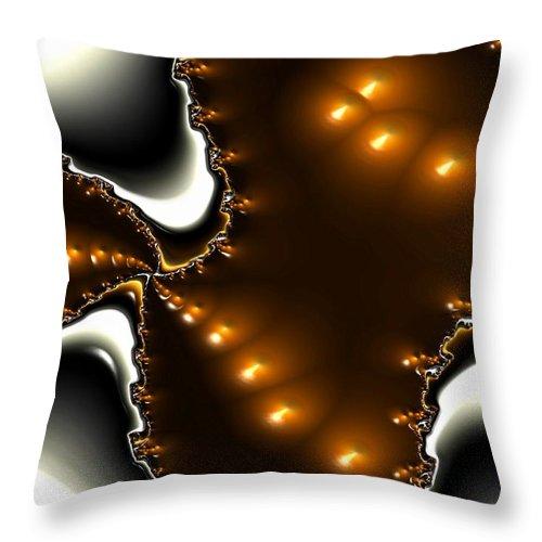 Nest Eggs Fractals Jewels Throw Pillow featuring the digital art Fractal 2 by Veronica Jackson