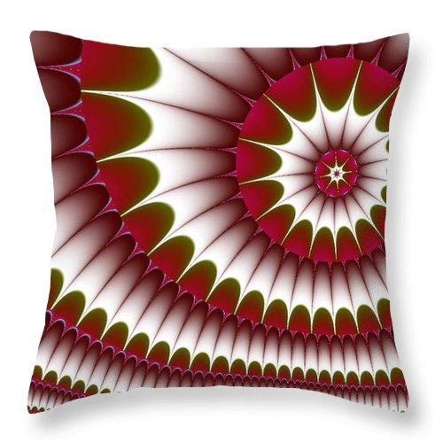 Fractal Digital Art Throw Pillow featuring the digital art Fractal 634 by Charmaine Zoe