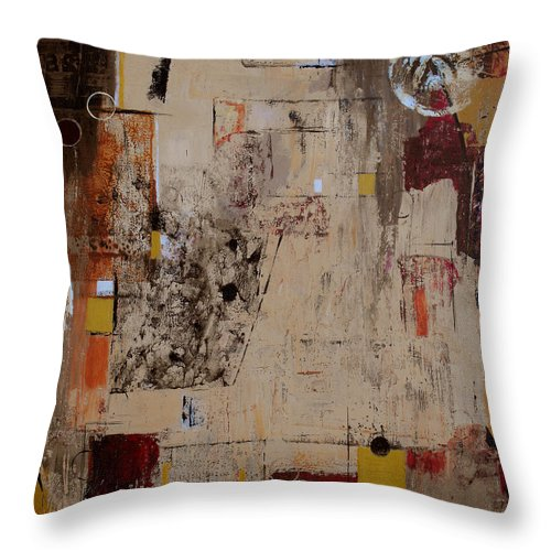 Abstract Throw Pillow featuring the painting Fractions by Ruth Palmer
