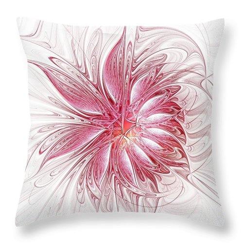 Digital Art Throw Pillow featuring the digital art Fragile by Amanda Moore