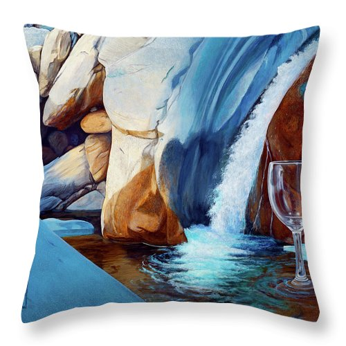 Landscape Throw Pillow featuring the painting Fragile Moments by Snake Jagger