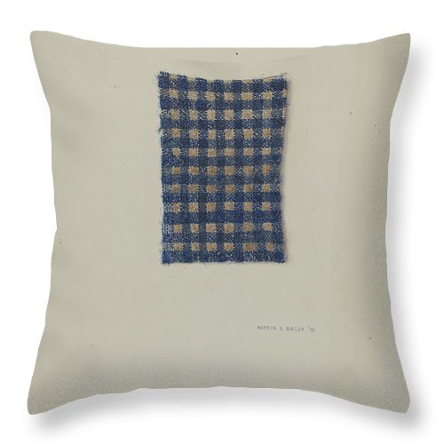 Throw Pillow featuring the drawing Fragment Of Comforter by Hardin Walsh