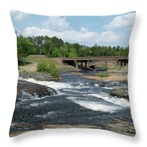 Waterfall Throw Pillow featuring the photograph Frank J Russel Falls 1 by Michael Peychich